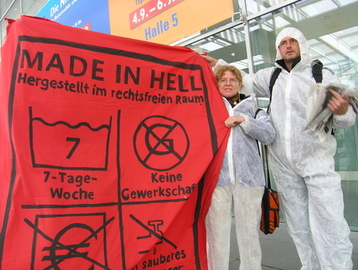 "Protestaktion""Made in Hell"""